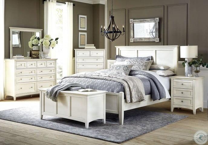 Northlake White Panel Bedroom Set