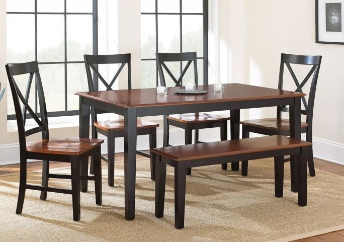 Kingston Medium Oak Rectangular Dining Room Set