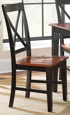 Kingston Oak and Black Side Chair Set of 2