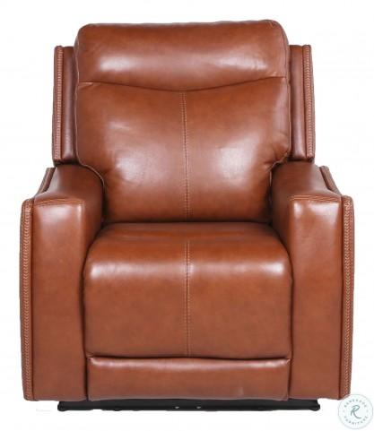 Natalia Caramel Leather Power Reclining Living Room Set