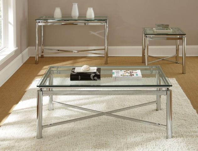 Nova Glass Top Rectangular Occasional Table Set