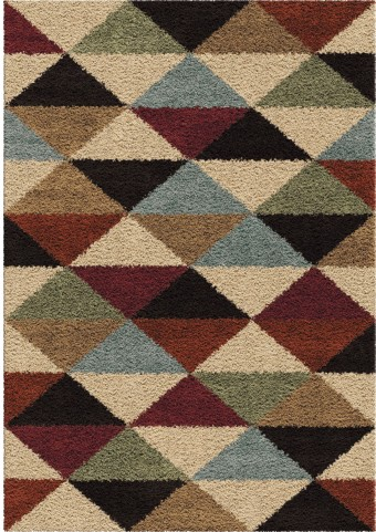 Orian Rugs Plush Triangles Pablo Multi Area Large Rug