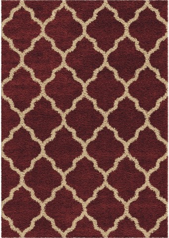 Orian Rugs Plush Trellis Malton Red Area Small Rug