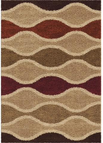 Impressions Shag Plush Waves Making Waves Multi Small Area Rug