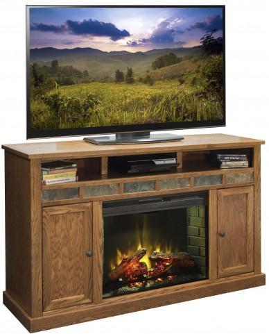 """Oak Creek Golden Oak 63"""" Fireplace Console"""
