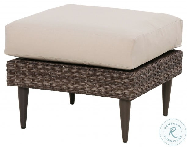 DS-D472-600-1 Brown Transitional Weaved Ottoman