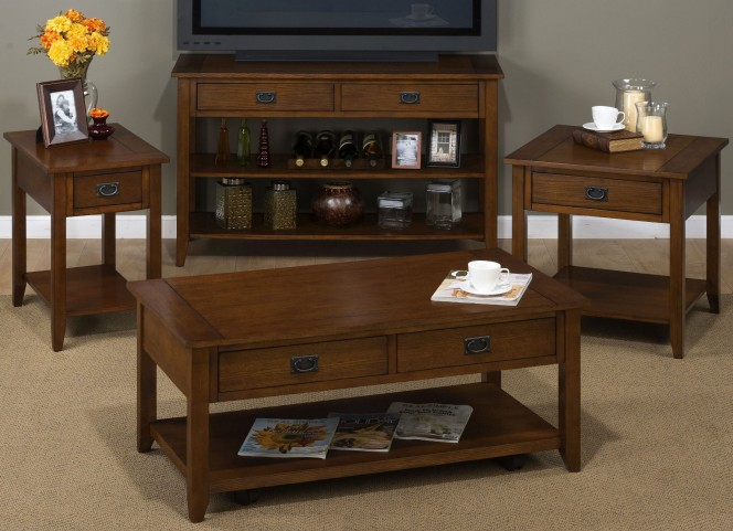 Mission Oak Occasional Table Set