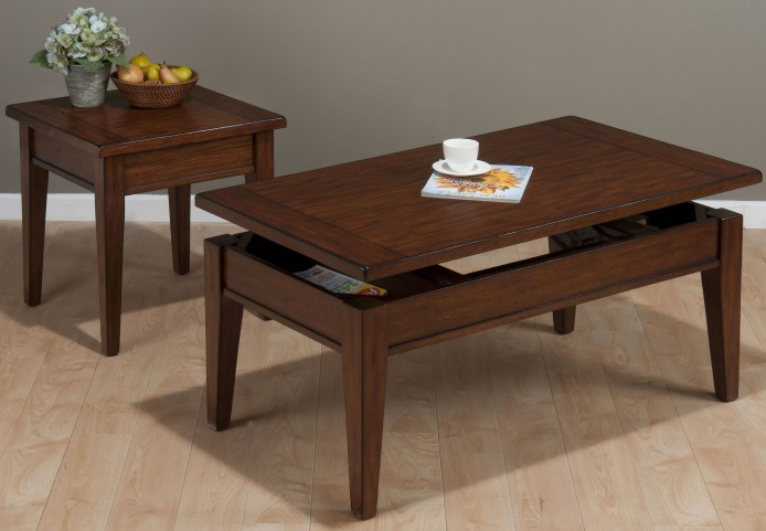 Dunbar Oak Lift Top Occasional Table Set