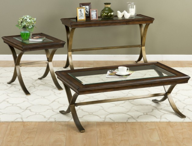 Ashland Pine Occasional Table Set