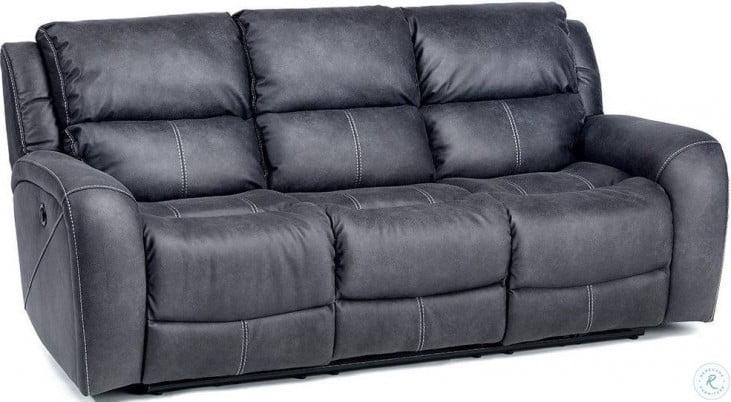 Terrific Octavio Slate Microfiber Sofa Caraccident5 Cool Chair Designs And Ideas Caraccident5Info