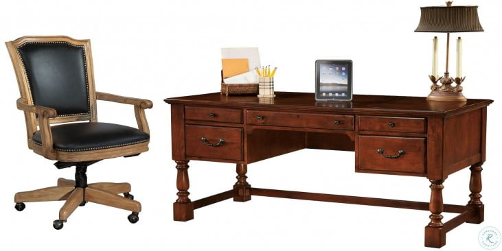 Tremendous Weathered Cherry Desk Home Office Set Download Free Architecture Designs Scobabritishbridgeorg