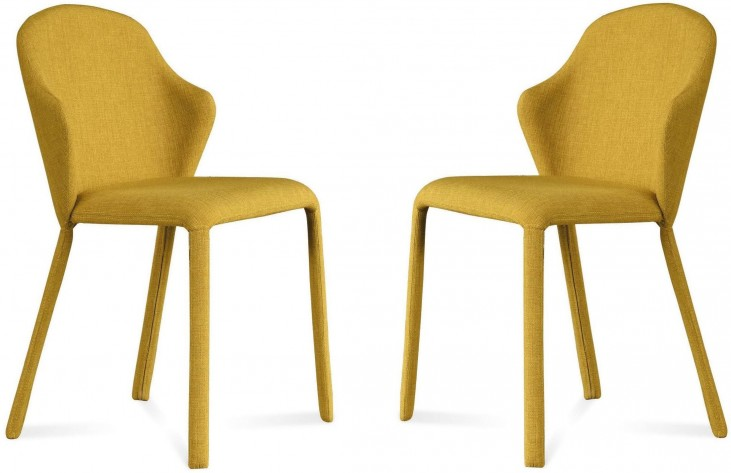 Opera Flirt Mustard Steel Chair Set of 2