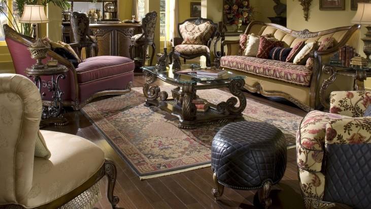 Oppulente Sienna Spice Living Room Set