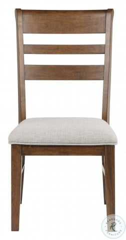 Ora Warm Walnut Side Chair Set Of 2