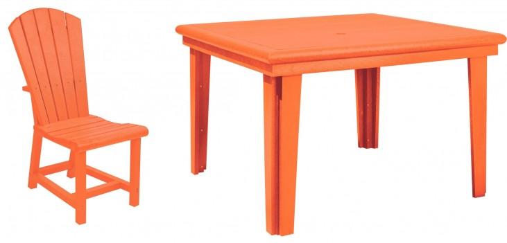 """Generations Orange 46"""" Square Dining Room Set"""