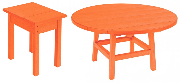 "Generations Orange 37"" Round Occasional Table Set"