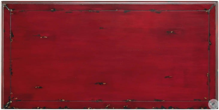 Red 5 Drawer Bombe Chest