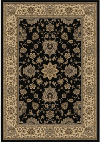 American Heirloom Borokan Black Medium Area Rug