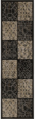 Orian Rugs Detailed Design Geometric Dominion Gray Runner Rug
