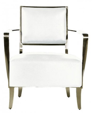 Oscar White Leather Arm Chair