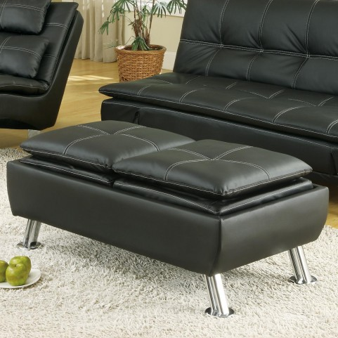 300283 Cocktail Ottoman with Reversible Tray Tops