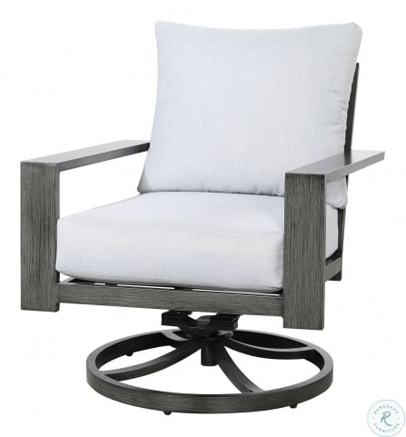 Magnificent Rockport Cloud Gray Outdoor Swivel Rocker Lounge Chair Pabps2019 Chair Design Images Pabps2019Com