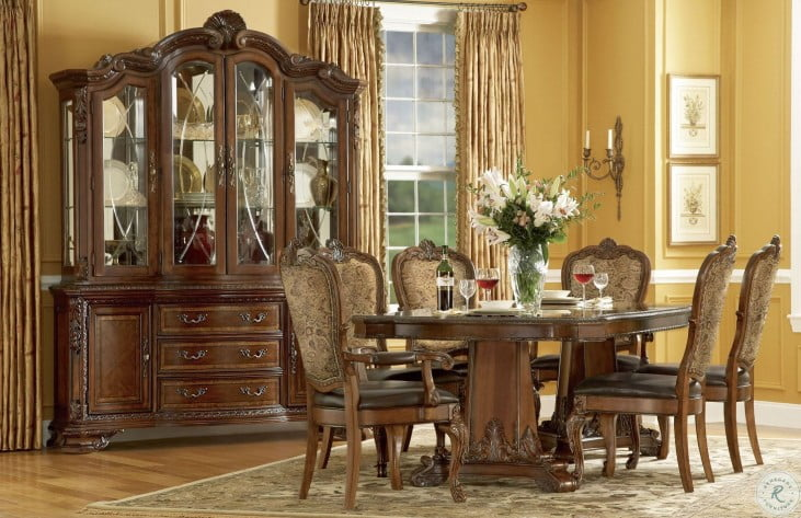 Old World Double Pedestal Extendable Dining Room Set From Art Coleman Furniture