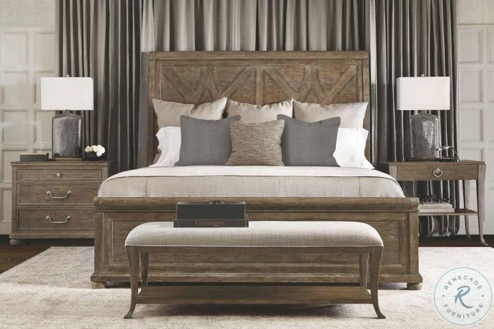 Rustic Patina Peppercorn Panel Bedroom Set From Bernhardt Furniture Coleman Furniture