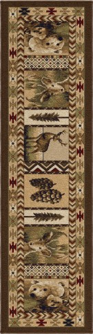 """Oxford High Country Sienna Runner 96"""" Rug"""