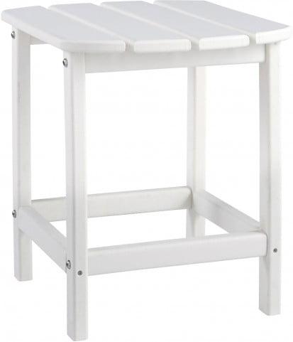 Sundown Treasure White Outdoor Rectangular End Table