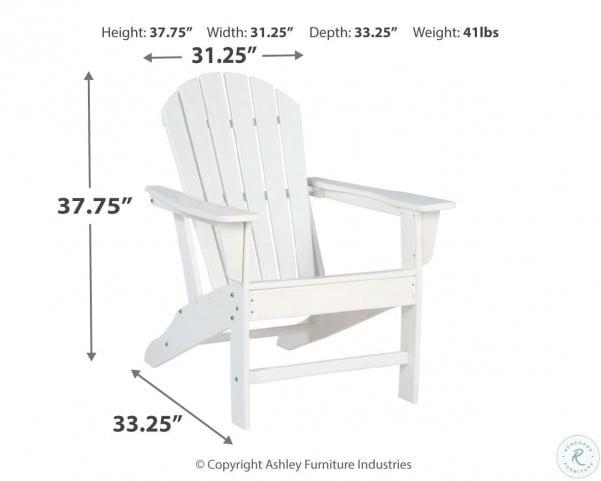 Sundown Treasure White Outdoor Adirondack Chair