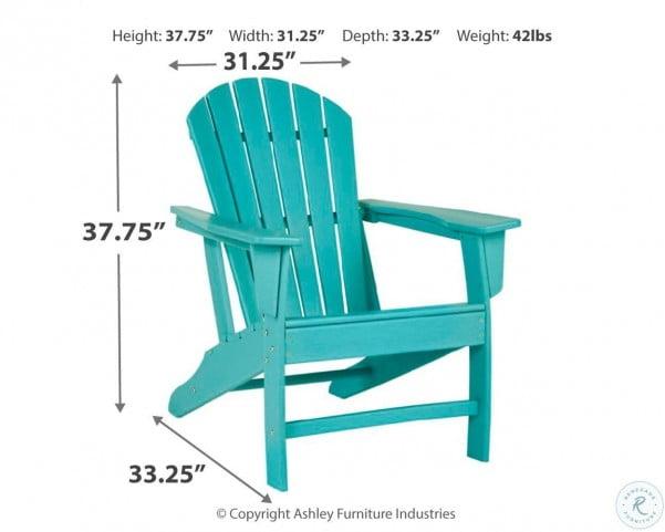 Sundown Treasure Turquoise Outdoor Adirondack Chair