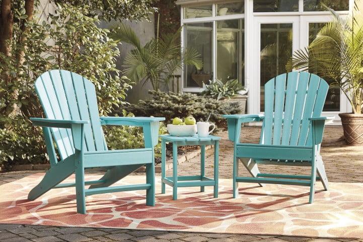 Sundown Treasure Turquoise Outdoor Rectangular End Table