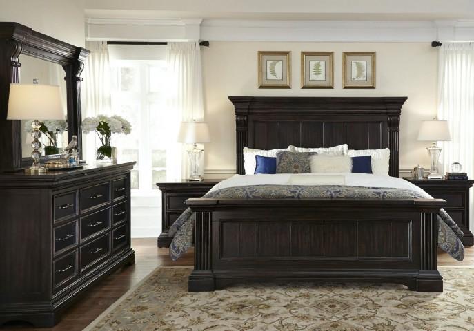 Caldwell Black Panel Bedroom Set