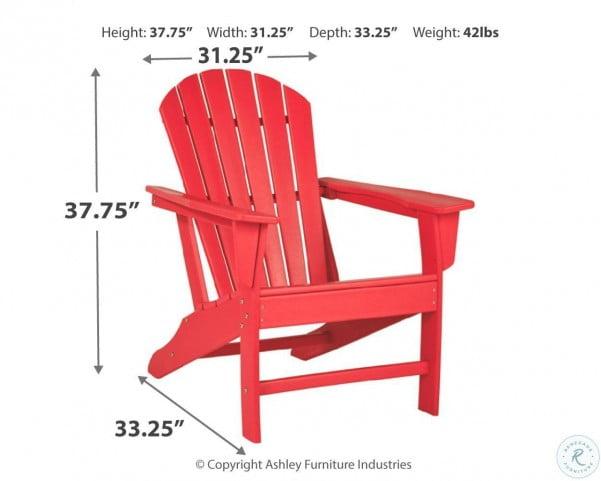 Sundown Treasure Red Outdoor Adirondack Chair