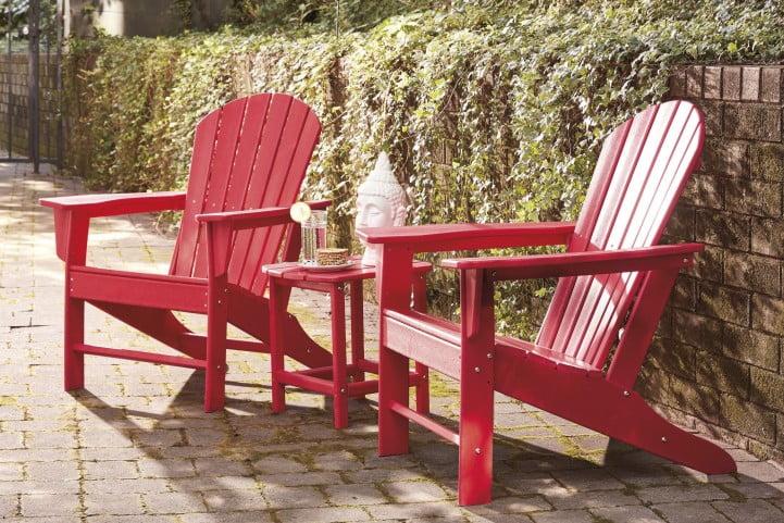 Sundown Treasure Red Outdoor Rectangular End Table