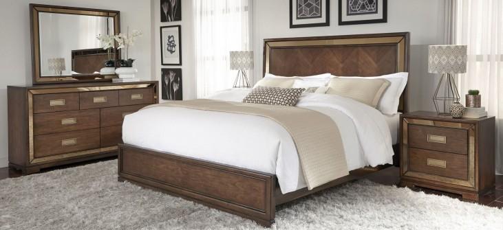 Chrystelle Cognac Panel Bedroom Set