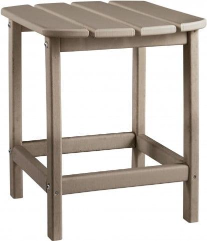 Sundown Treasure Grayish Brown Outdoor Rectangular End Table