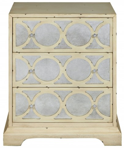 Antiqued Mirrored 3 Drawer Accent Chest