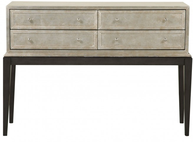 Variegated Metallic 4 Drawer Console