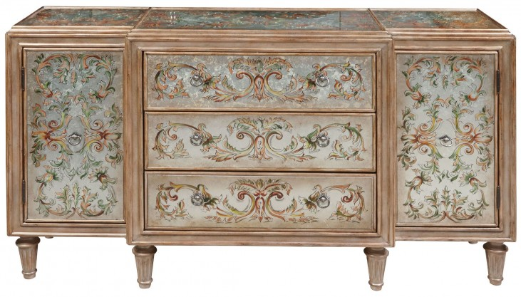 Hand Painted 3 Drawer Console