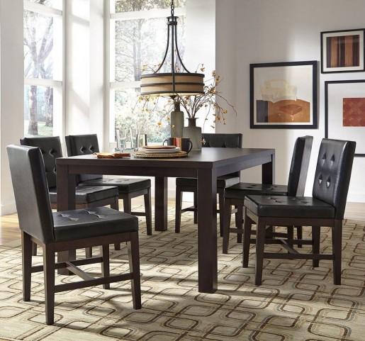 Athena Dark Chocolate Rectangular Dining Room Set