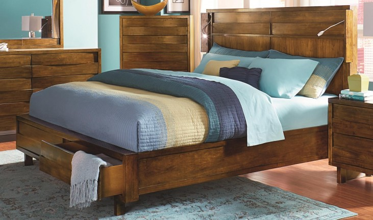 North Shore Acorn King Storage Bed