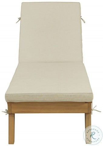 Byron Bay Light Brown Outdoor Chaise Lounge