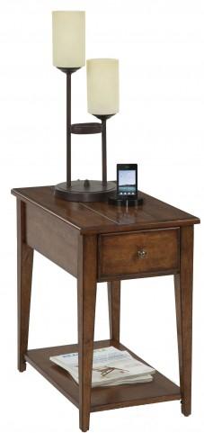 "Chairsides Birch Veneer 24"" Drawer Rectangular Chairside Table"