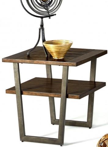 Sedona Wire Light Elm Rectangular End Table