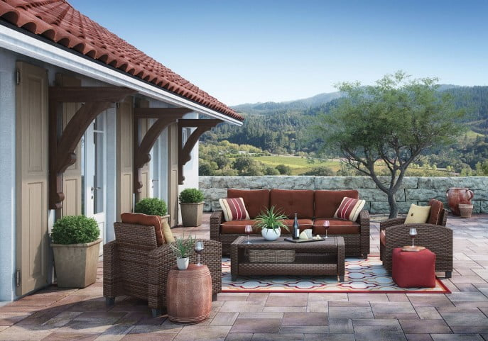 Stupendous Meadowtown Brown 4 Pcs Outdoor Conversation Set Home Interior And Landscaping Staixmapetitesourisinfo