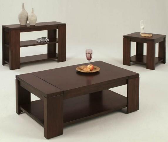 Waverly Vintage Walnut Occasional Table Set
