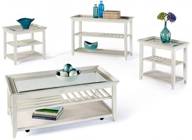 Sandpiper II White Occasional Table Set