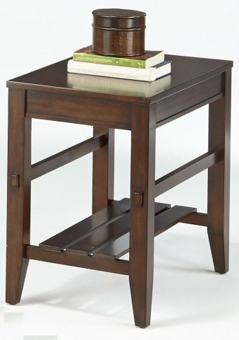Jupiter Key Dark Cherry Chairside Table